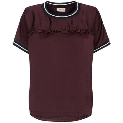 One-Two T-shirt i burgundy 6566-545-449