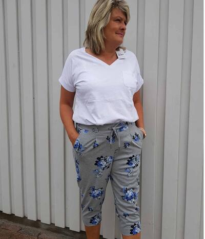 B.Young Capri pants i grå 20805800-80032
