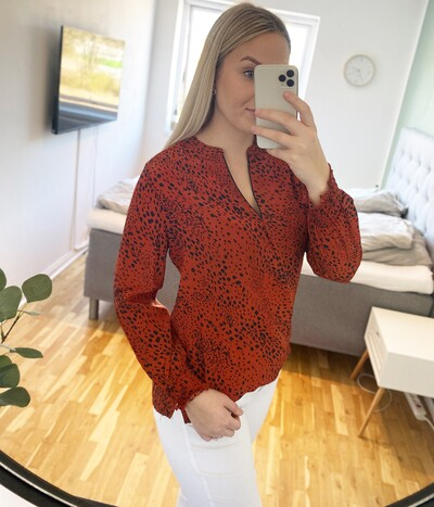 Prepair Freja bluse i brændt orange 1106