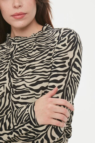 Soaked Bluse i tiger print 30403341