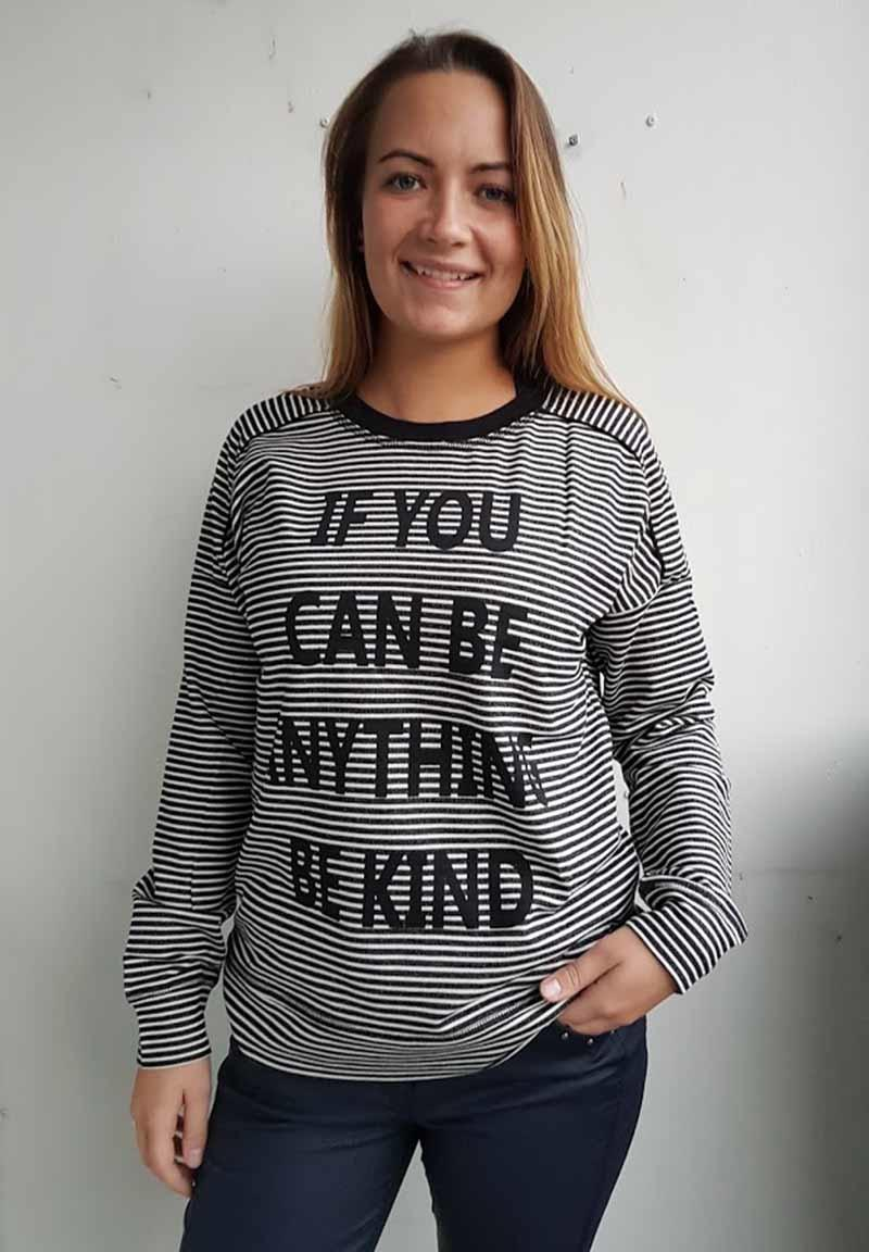207ee5c5077 One-Two stribet bluse med print 6517-1096-999. One-Two stribet bluse med  print 6517-1096-999