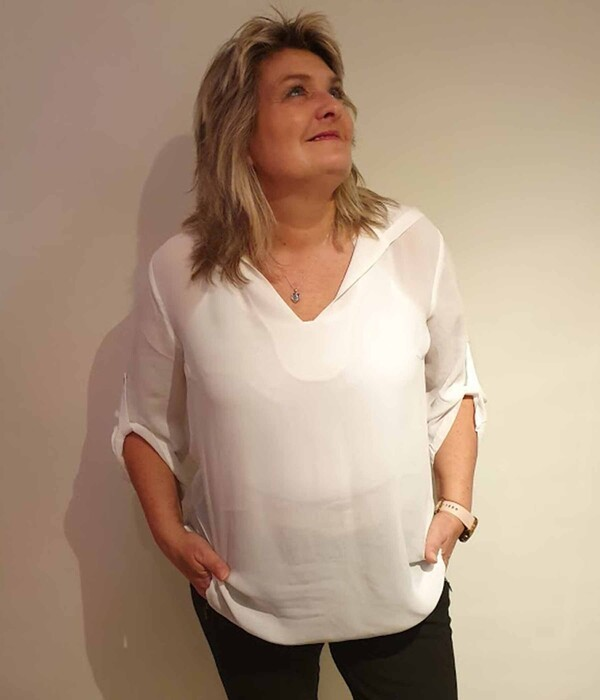 One-Two Hermine bluse i cream 7090-1839-737
