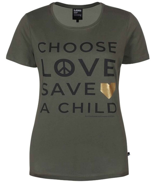 Ze-Ze T-Shirt i khaki - Land of hope 5808791-6830
