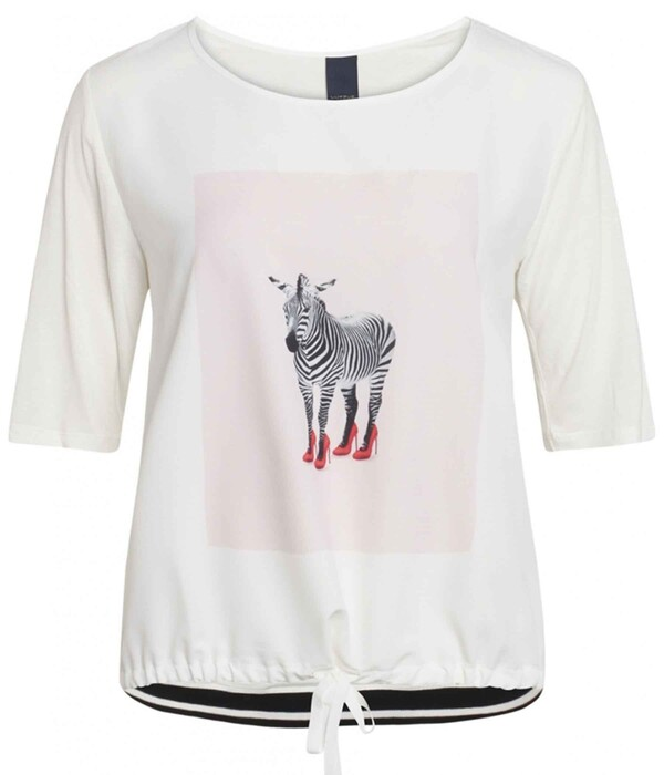One-Two Adrianna T-Shirt med Zebra Print 