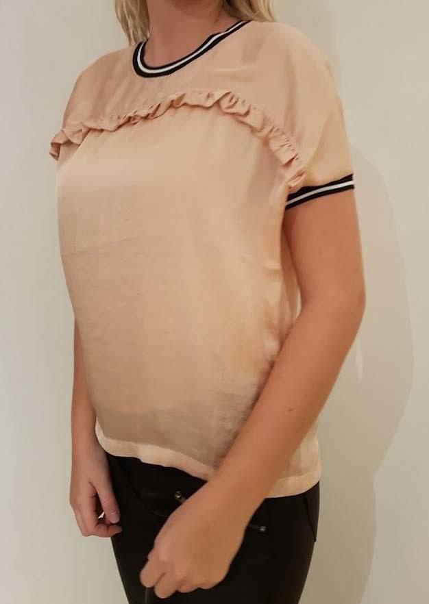 ONE-TWO T-SHIRT I LYS PEACH
