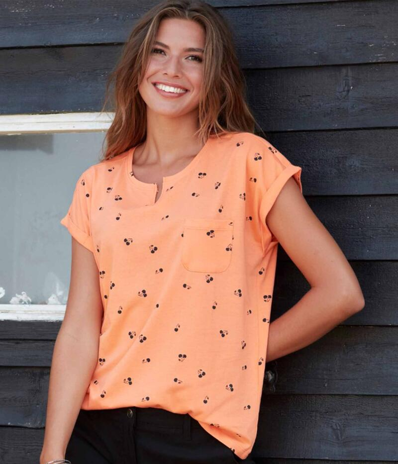 ZE-ZE HABER T-SHIRT I ORANGE